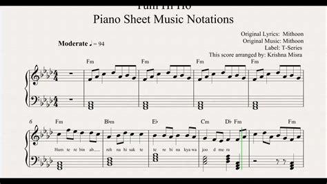 keyboard tutorial of tum hi ho tum hi ho piano sheet music notations from musichorizon
