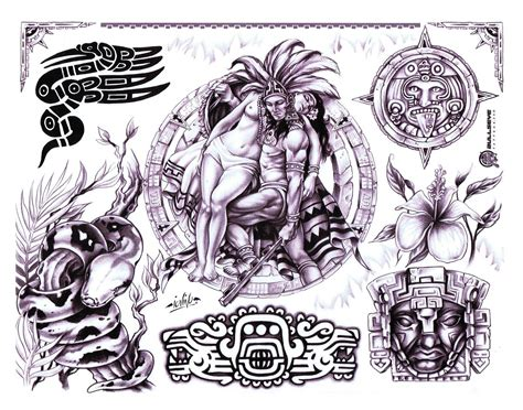 tattoo flash sheets flash quot aztec flash quot on cd dvd 100 sheets with line