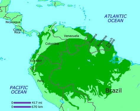 america rainforest map maps world map rainforest