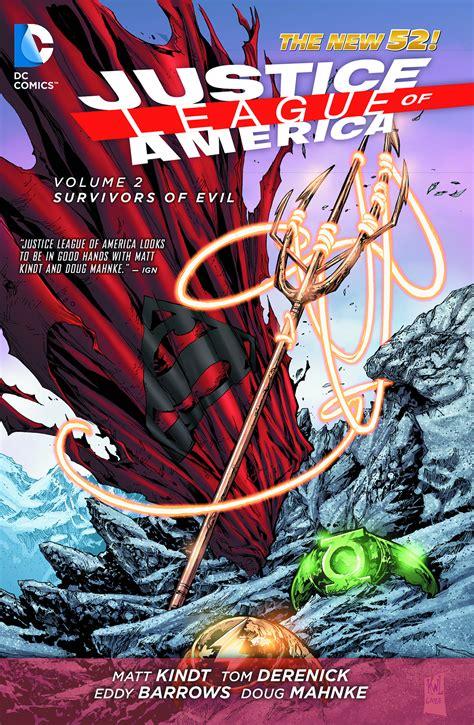 justice league tp vol dec140381 justice league of america tp vol 02 survivors of evil previews world