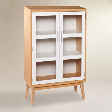 Glass Storage Cabinet Glass Door Abie Storage Cabinet World Market