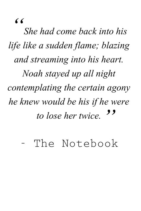Happens Quote Notebook the notebook quotes nicholas sparks