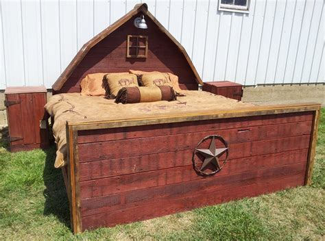 bed barn rustic bed red barn bed made from authentic