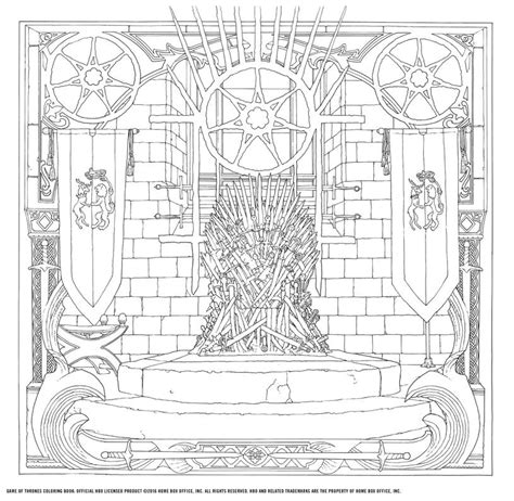 thrones colouring book images of thrones a new coloring book let s you color in
