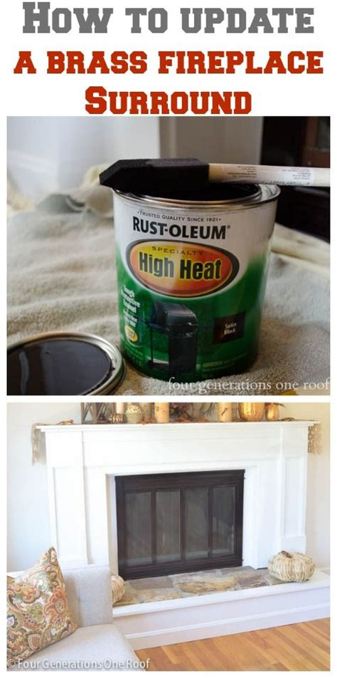 high heat paint for fireplace brass to