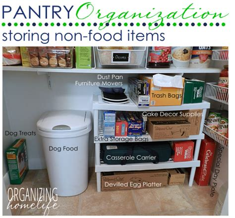 How To Organize Food Pantry by Storing Non Food Items In The Pantry Organize Your