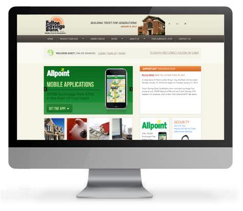 bank website design bank responsive website design acs inc web design