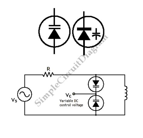 varactor diode diagram varactor the of voltage controlled lc tuner simple circuit diagram