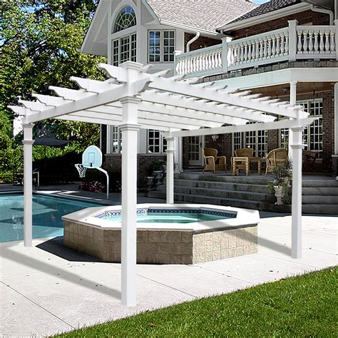 backyard billy039s vinyl pergolas pre built pergola kits