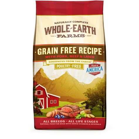 food grain free whole earth farms grain free beef food petco store