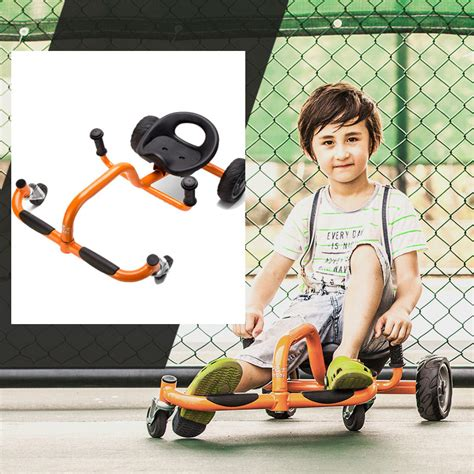 swing cars four wheels foot children swing car twist