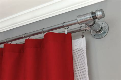 diy double curtain rod double curtain rod diy curtain ideas