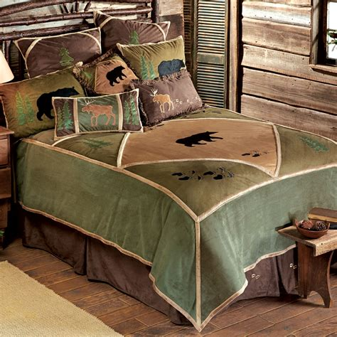 Black Cing Cabins by Bed Sets Rustic Cabin Bedding Black Forest