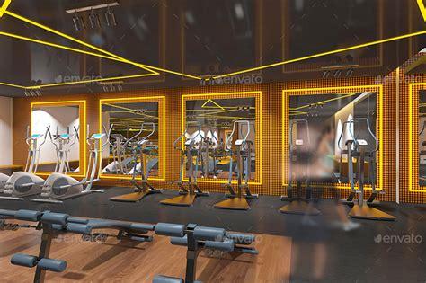 Crossfit Gym Floor Plan fitness amp gym interior design branding mockups by wutip