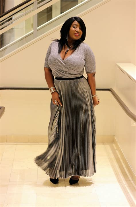 valentines day   metallic pleated maxi skirt