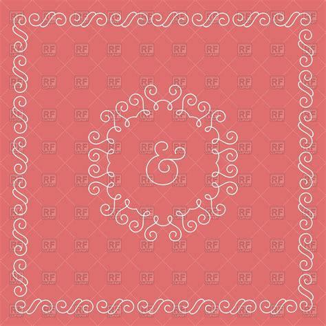Template of wedding invitation or celebrate card   frame