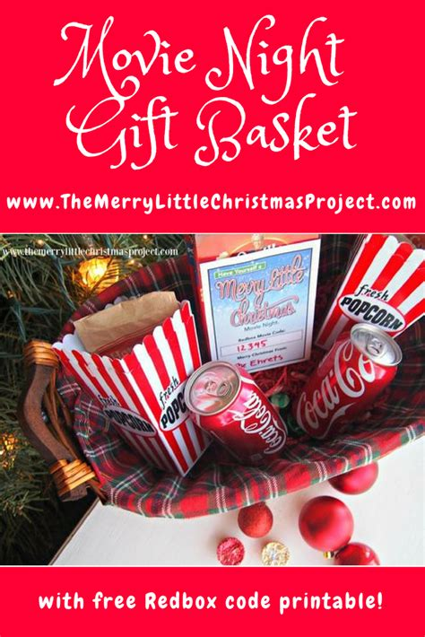 night gift basket   redbox code printable