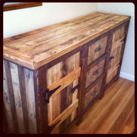 rustic urban wood buffet table