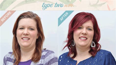 dyt typr 4 women transformationthursday tina s type 2 makeover is as