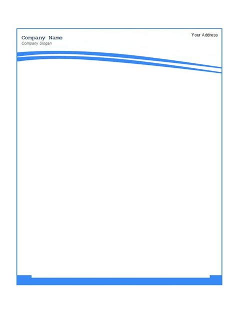 free download letterhead templates microsoft blank