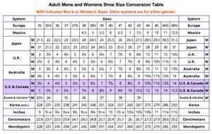shoe size conversion table ebay