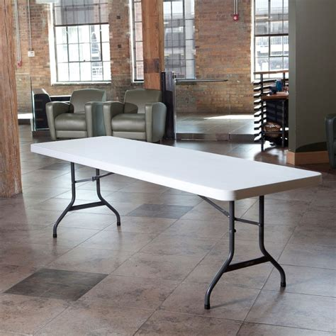 Lifetime 8 Foot Table by Lifetime Products White 4 Pack 8 Ft Folding Banquet Tables