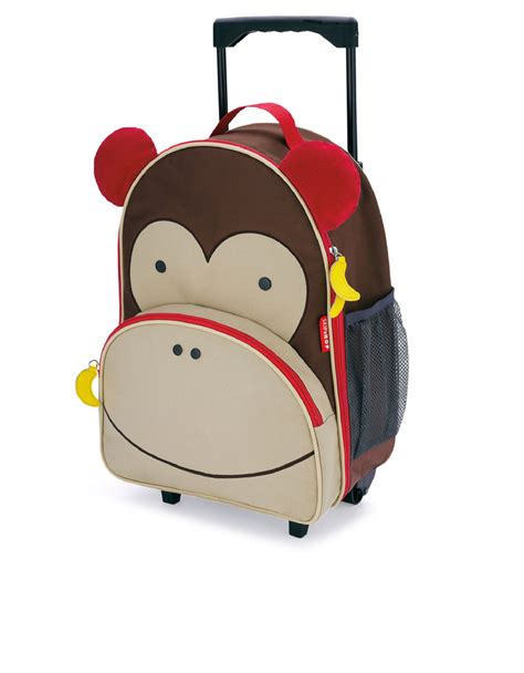 Skip Hop Zoo Luggage Kid Rolling Luggage Monkey skip hop zoo rolling luggage monkey backpacks backpacks bags stationery
