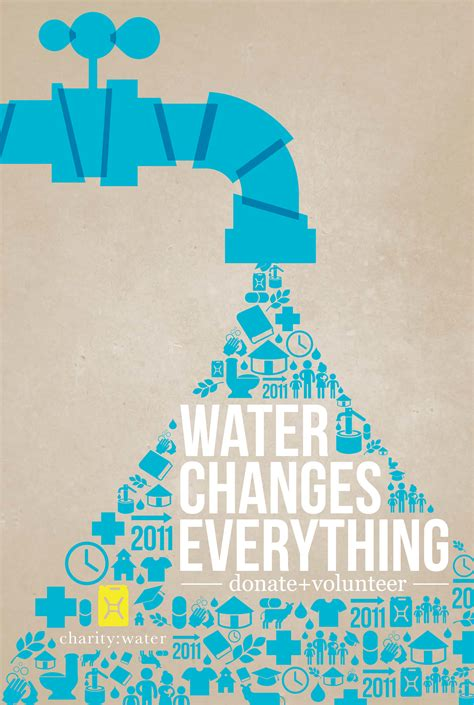 design inspiration of the day charity water poster tonyratazak