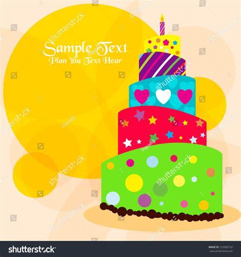 imagenes de happy birthday vector vector happy birthday card with birthday cake vector