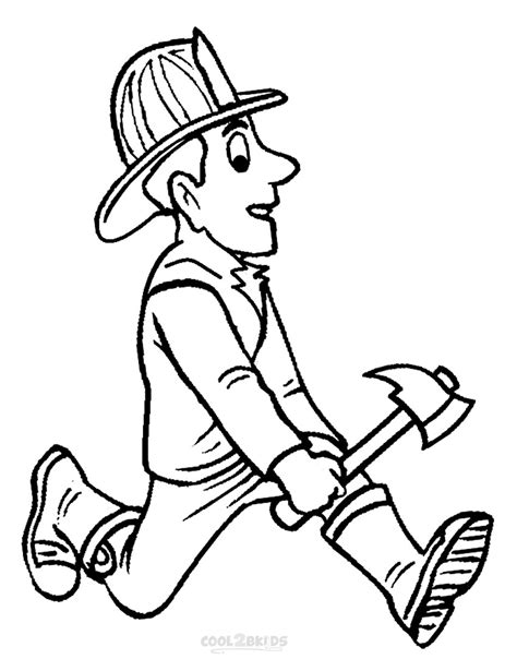 Free Printable Fireman Coloring Pages Cool2bkids Fireman Hat Coloring Page 2