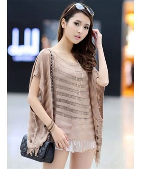 khaki korean fashion hollow summer new knitting all