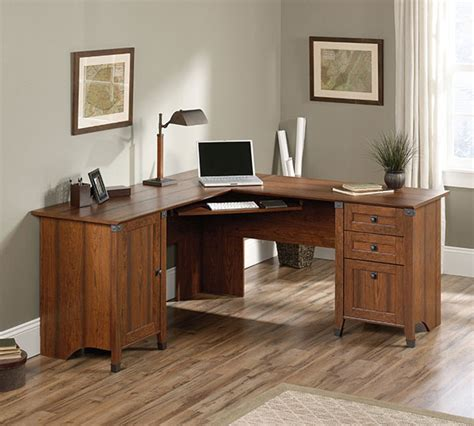 corner wood desk cherry wood corner computer desk bush furniture vantage