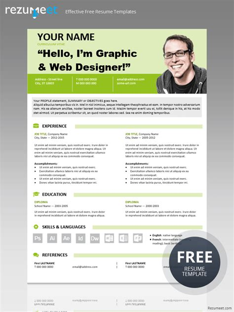 modern resume template 2015 astoria modern yet simple free resume template