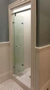 wilson glass bi fold shower glass door has swiveling