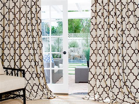 Brown Trellis Curtains Made Geometric Custom Drapes And Blinds On Sale Drapestyle 800 760 8257