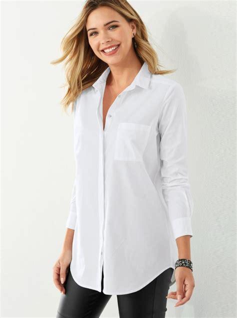 imagenes de camisas blancas para mujeres camisa mujer con bolsillo de plastr 243 n en el pecho tejido