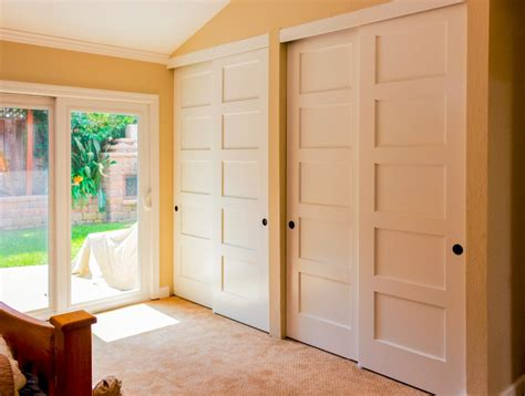 Wood Closet Doors For Bedrooms Simple Bedroom With Excellent Wood Sliding Panel Closet Doors White Wooden 5 Panel Closet