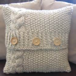 Cushion cover patterns to knit chunky cable knit pillow cover pattern