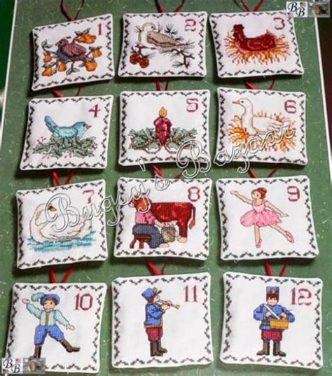 janlynn 12 twelve days of christmas sted cross stitch