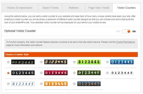 tutorial website builder monitor website traffic with instantpro website builder