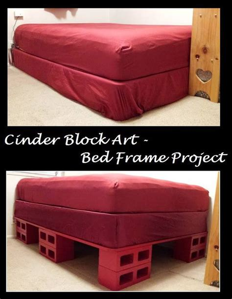 cinder block bed frame broken toe colors and bed frame storage on pinterest