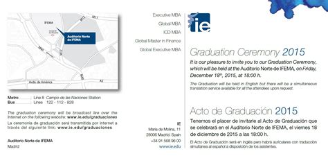 F1 For Executive Mba Work by Graduation Ceremonies Ie Faculty