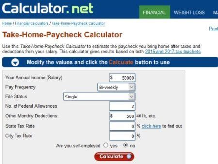 9 salary paycheck calculator free word excel pdf format
