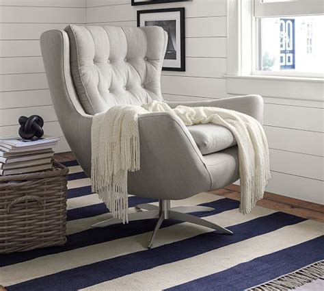 pottery barn swivel club chair upholstered swivel armchair pottery barn