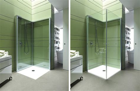 flat folding shower frees  space  compact bathrooms designs ideas  dornob