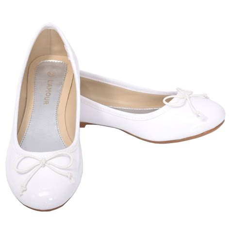 flat dress shoe l amour white slip on bow flat dress shoes 11