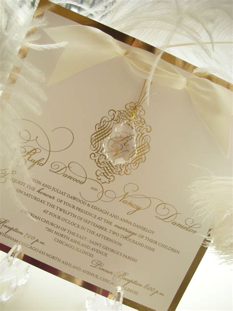 Wedding Invitations Embellishments by Quot Revelry Quot Hanging And Gold Mirror Wedding