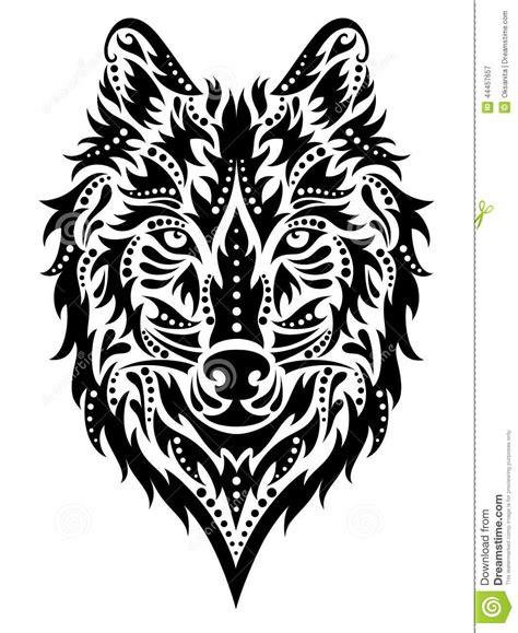 wolf pattern stock wolf stock vector illustration of mammal ideas ornate