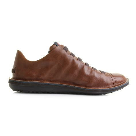 mens casual shoes mens cer beetle brown leather lace up casual shoes shu