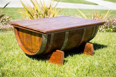 custom wine barrel coffee table by by gordon living